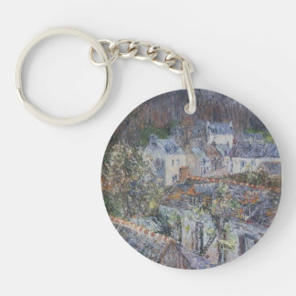 Rain in Pont-Aven  by Gustave Loiseau Key Chains