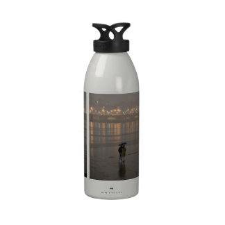 Rain in Seoul Water Bottle