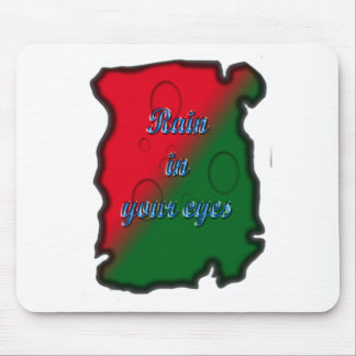 Rain In Your Eyes Burn Paper Background Mouse Pad