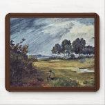 Rain Landscape By Busch Wilhelm (Best Quality) Mouse Pad