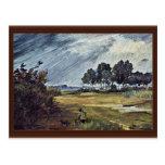 Rain Landscape By Busch Wilhelm (Best Quality) Postcard