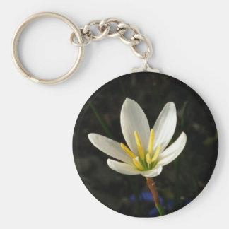 Rain Lily Basic Round Button Keychain