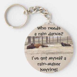 Rain-Maker (Cows Are Lying Down) Basic Round Button Keychain