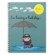 """Rain"" Notebook - A Bad Day Dude Design"