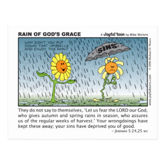 Rain of God's Grace postcard