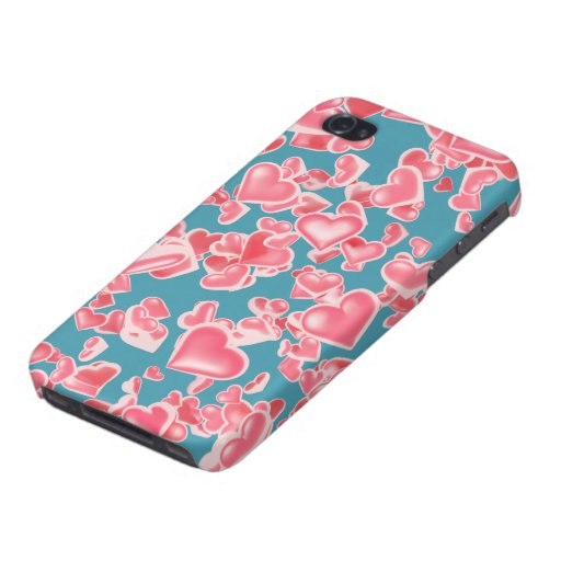 Rain of hearts case for iPhone 4