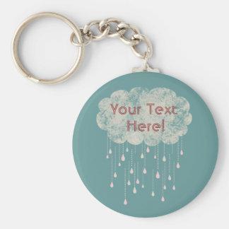 Rain of Love All Occasions Custom Keychain Blue