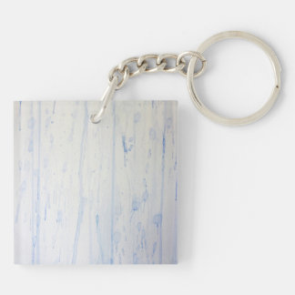 Rain on a Window Double-Sided Square Acrylic Keychain