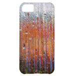 rain on colorful glass cover for iPhone 5C