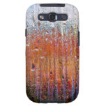 rain on colorful glass galaxy SIII cases
