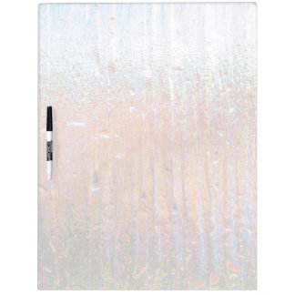 Rain on Glass with Pretty Colors Dry-Erase Board