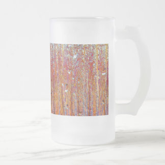 Rain on Glass with Pretty Colors Frosted Glass Beer Mug