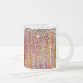 Rain on Glass with Pretty Colors Frosted Glass Coffee Mug