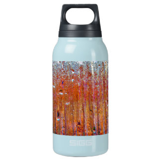 Rain on Glass with Pretty Colors Insulated Water Bottle