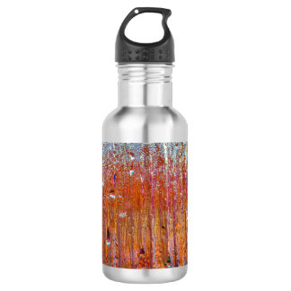 Rain on Glass with Pretty Colors Water Bottle