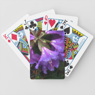 Rain on Purple Rhododendrons Poker Cards