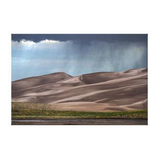 Rain on the Great Sand Dunes Canvas Print
