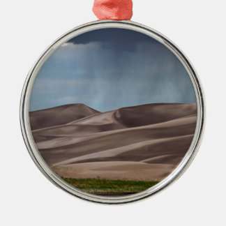 Rain on the Great Sand Dunes Metal Ornament