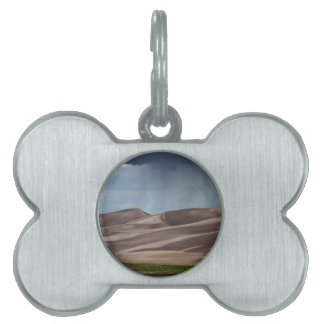 Rain on the Great Sand Dunes Pet Name Tag