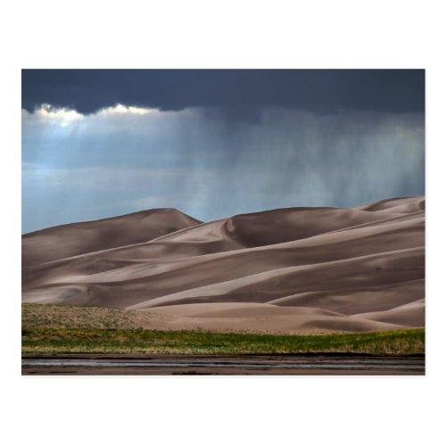 Rain on the Great Sand Dunes Postcard
