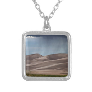 Rain on the Great Sand Dunes Silver Plated Necklace