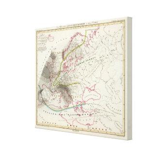 Rain Patterns in Europe Canvas Print