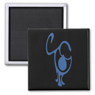Rain People 2 Inch Square Magnet
