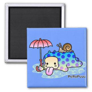 Rain PeRoPuuu 2 Inch Square Magnet