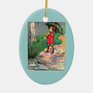 Rain, rain, go away, Come again another day Ceramic Ornament