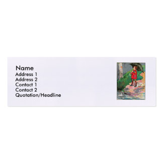 Rain, rain, go away, Come again another day Double-Sided Mini Business Cards (Pack Of 20)