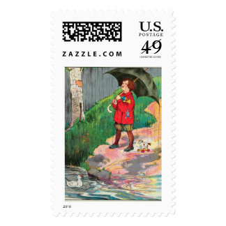 Rain, rain, go away, Come again another day Stamp