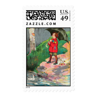 Rain, rain, go away, Come again another day Postage Stamp
