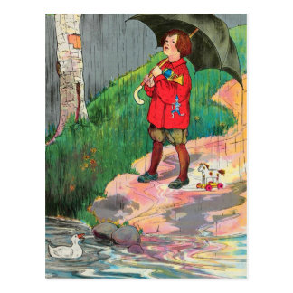Rain, rain, go away, Come again another day Postcard