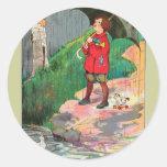Rain, rain, go away, Come again another day Classic Round Sticker
