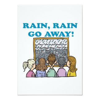 Rain Rain Go Away 5x7 Paper Invitation Card