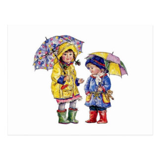 Rain, Rain Go Away.... Postcard