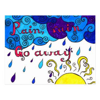 Rain, Rain Go Away - postcard