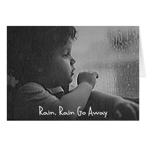 Rain, Rain Go Away Stationery Note Card
