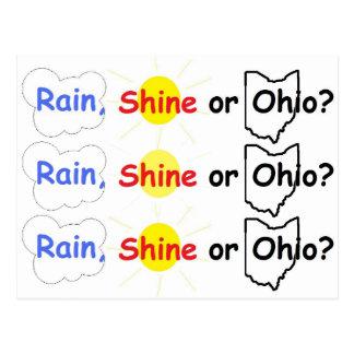 Rain, Shine or Ohio? Postcard