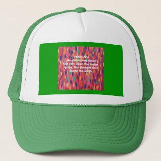 Rain showers raindrops bible verse Christian Trucker Hat