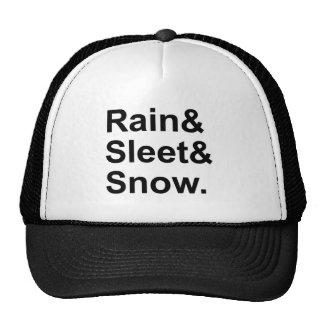 Rain Sleet Snow | Postal Weather Conditions Trucker Hat