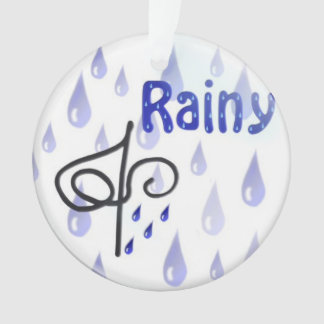 Rain Snow Sun Ornament