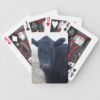 Rain-Soaked Wet Polled Cow Face Cattle Western Bicycle Playing Cards