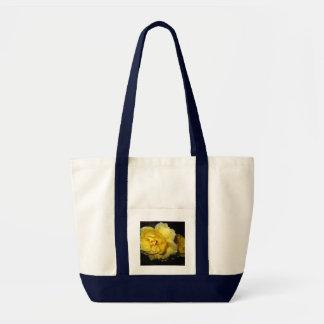 Rain Soaked Yellow Rose Canvas Bag
