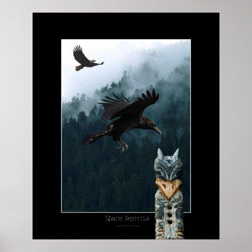 RAIN SPIRITS Art Poster