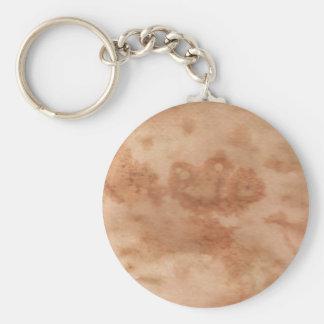 Rain Splattered Basic Round Button Keychain