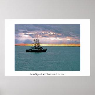 Rain Squall at Chatham Harbor Poster