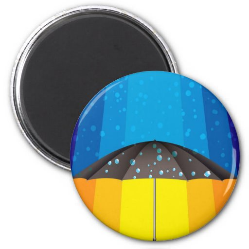 Rain storm on a sunny day 2 inch round magnet