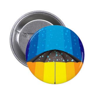 Rain storm on a sunny day button