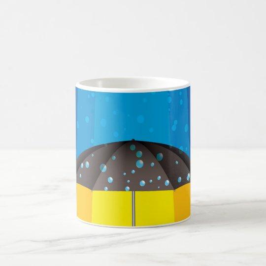 Rain storm on a sunny day coffee mug